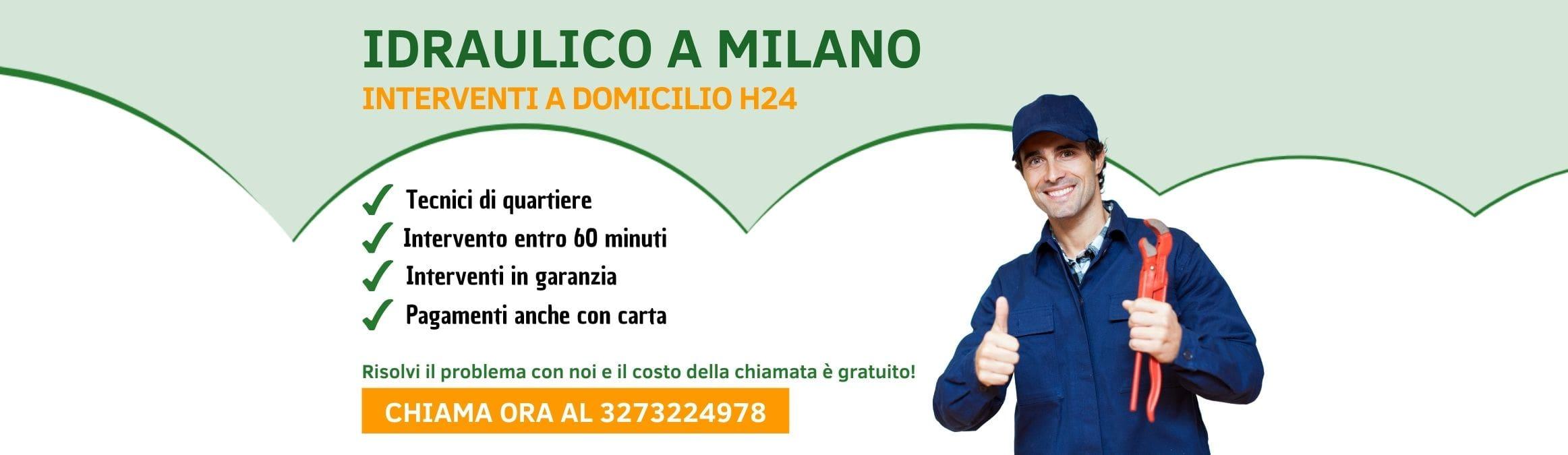Idraulico Milano Pronto Intervento h24